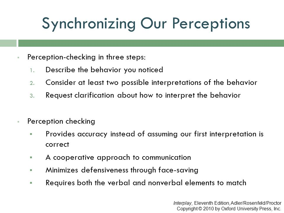 what is perception checking