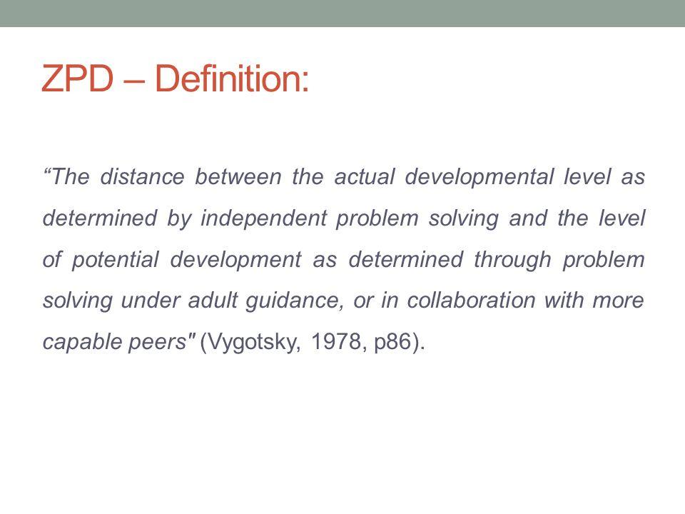 zone of proximal development zpd