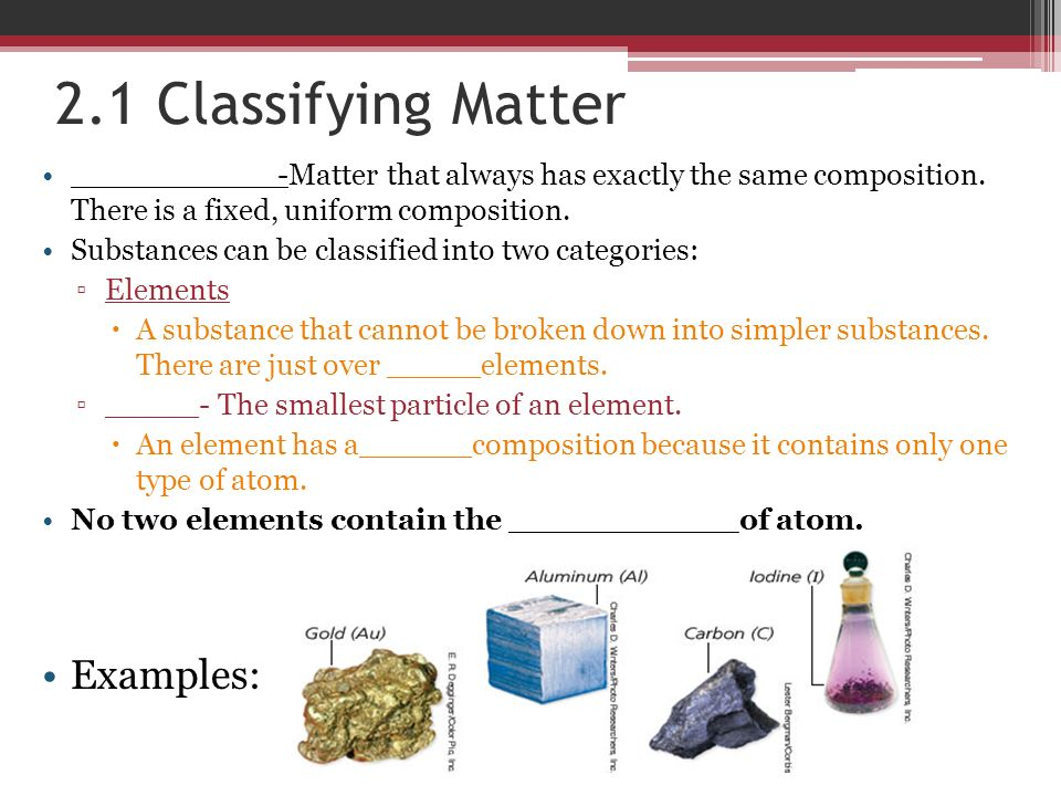 Chapter classifying matter. Ppt download.
