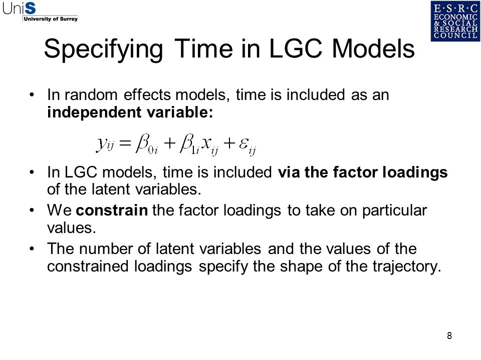 Specifying Time in LGC Models