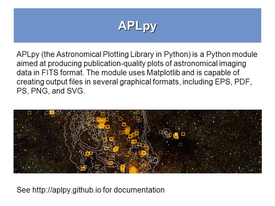 Python Crash Course Aplpy - ppt download