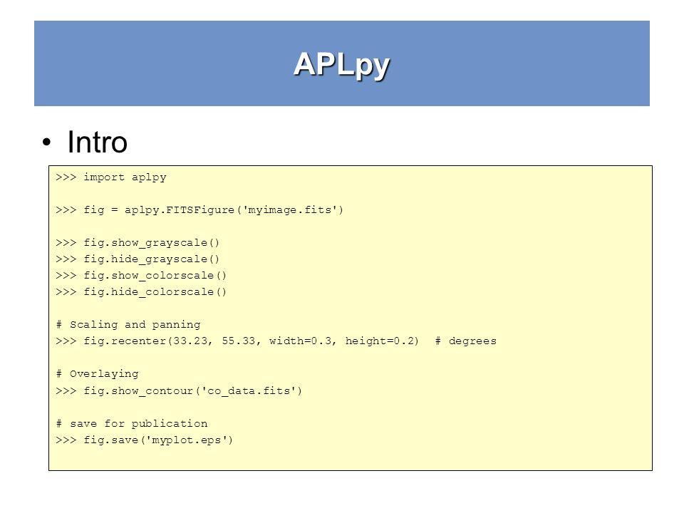 Python Crash Course Aplpy - ppt download