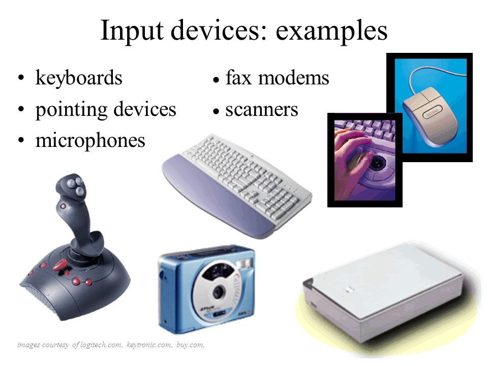 Input devices: examples
