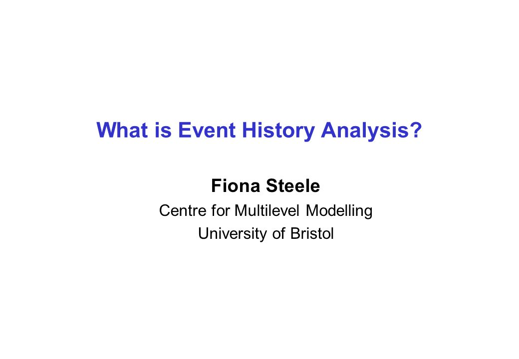 What is Event History Analysis