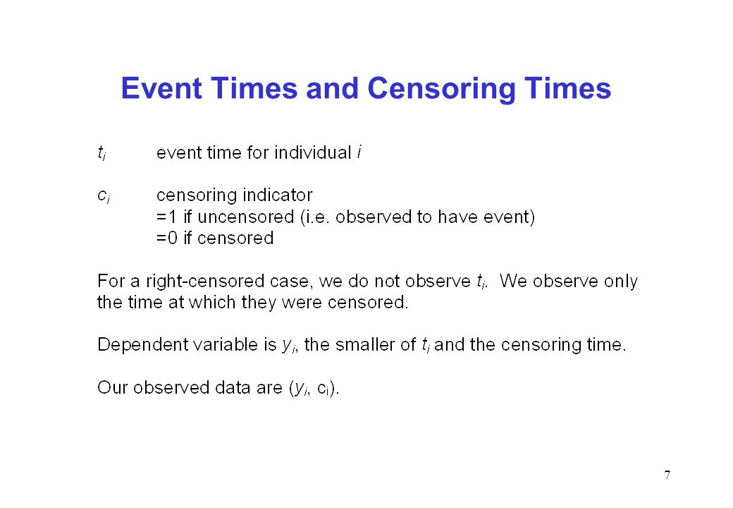 Event Times and Censoring Times