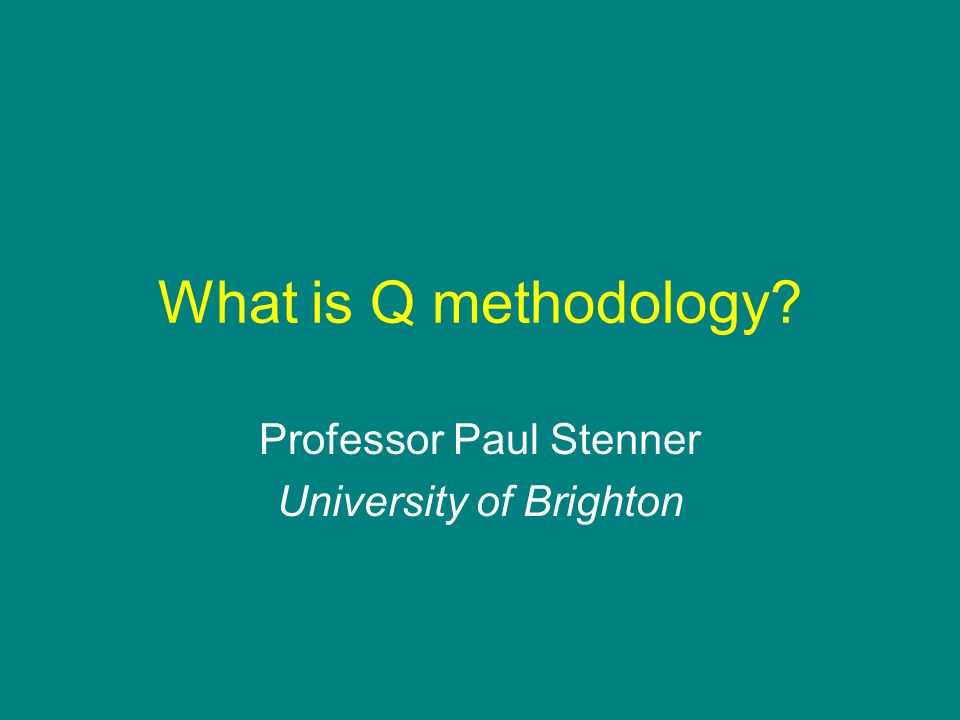 Professor Paul Stenner University of Brighton