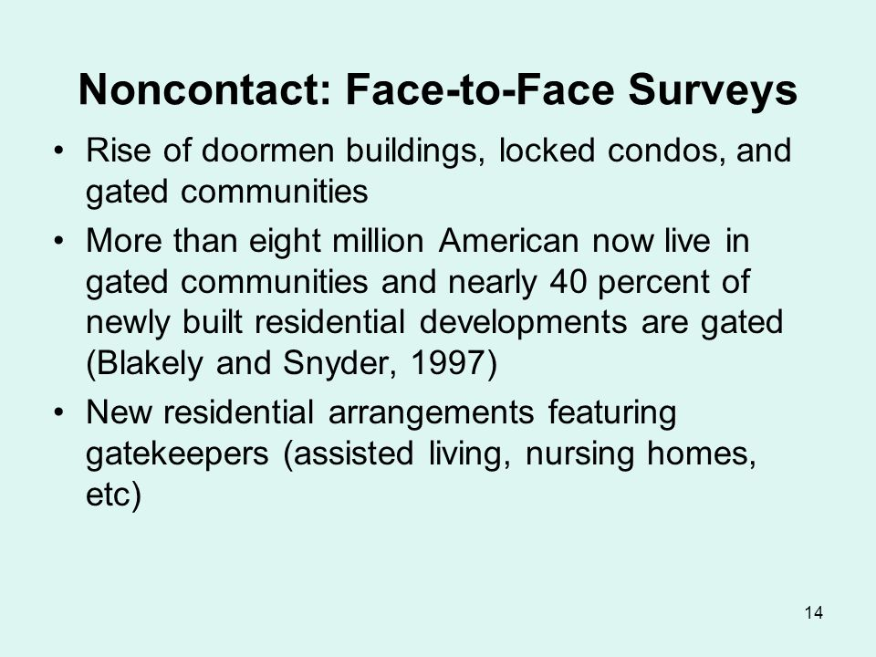 Noncontact: Telephone Surveys