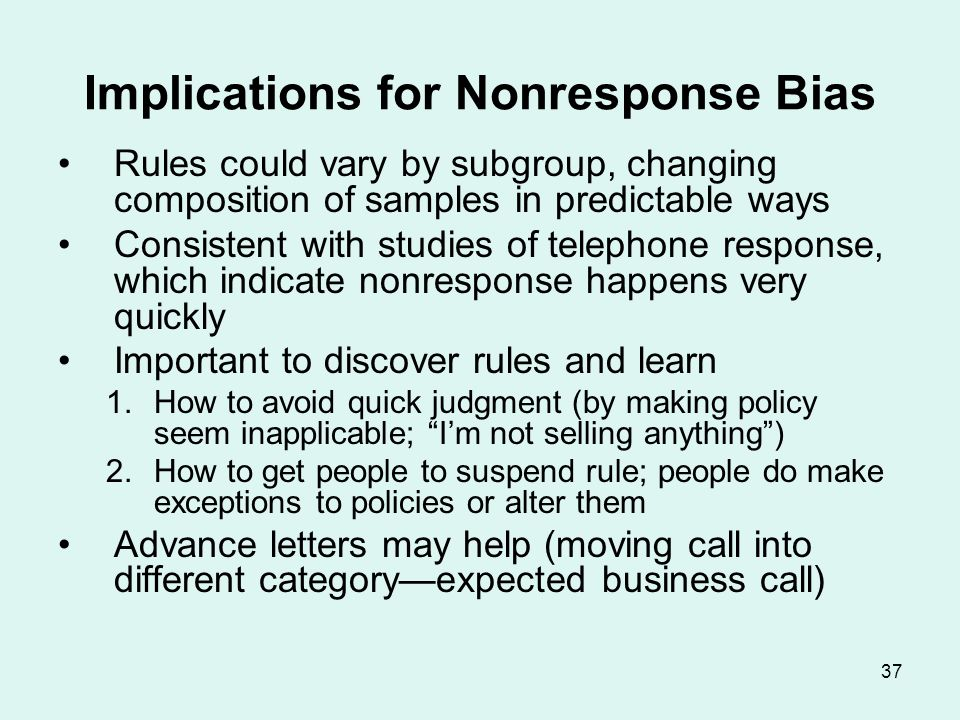 Does Nonresponse Matter