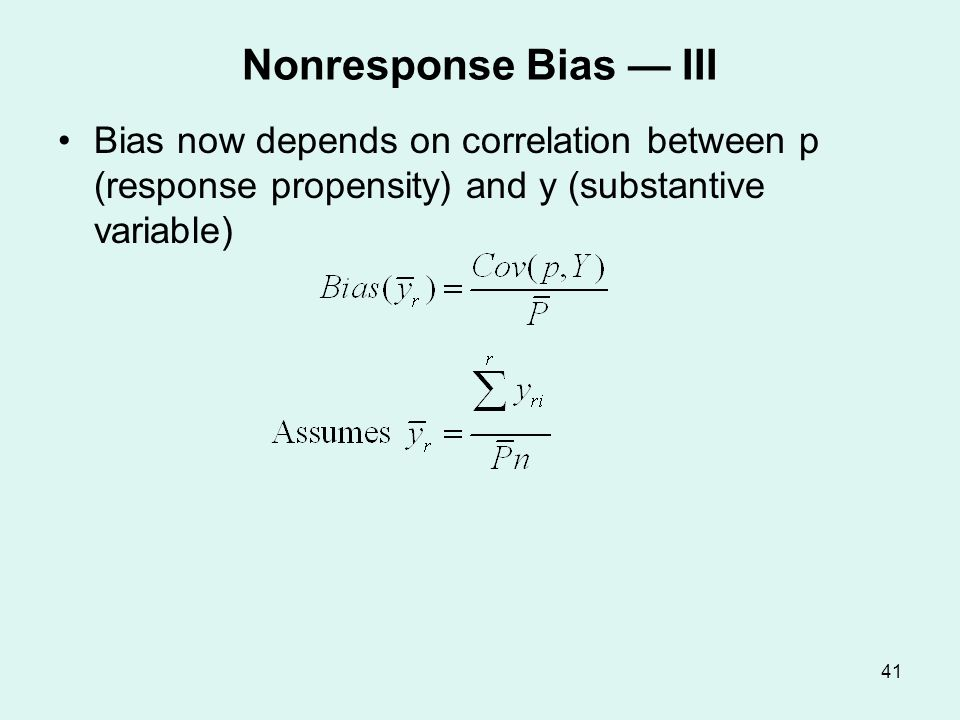 Empirical Estimates of Bias