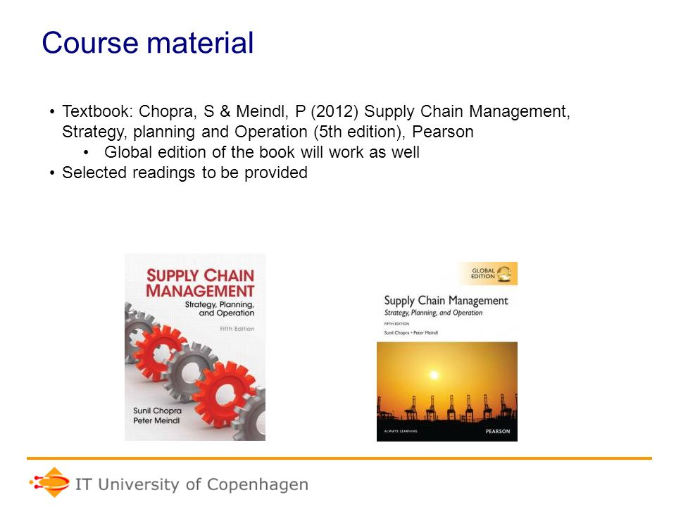 Chopra Meindl Supply Chain Management Pdf