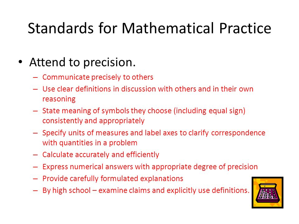 Standards for Mathematical Practice - ppt video online download