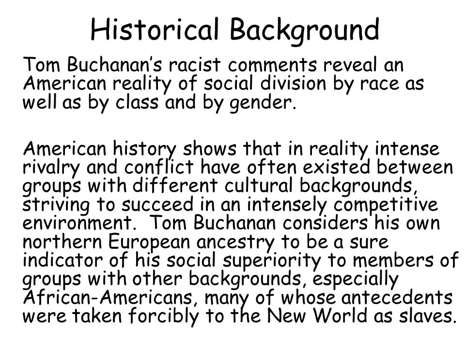 character traits of tom buchanan