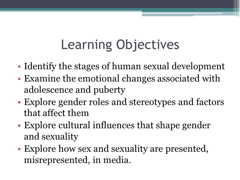 Human development sexuality and gender