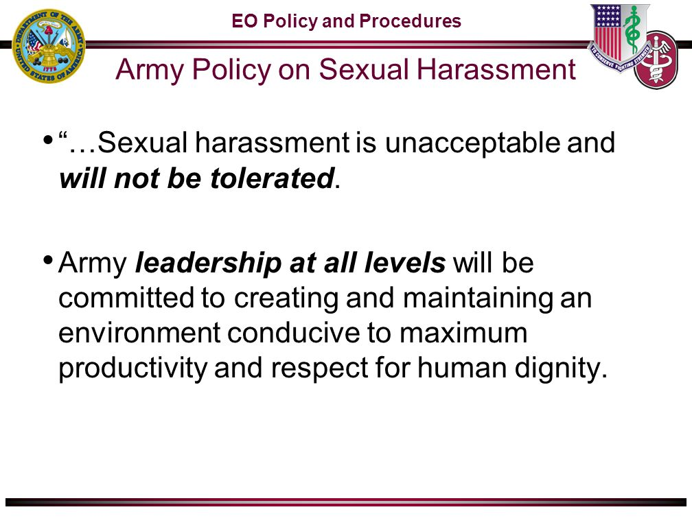 Lep army definition of sexual harassment