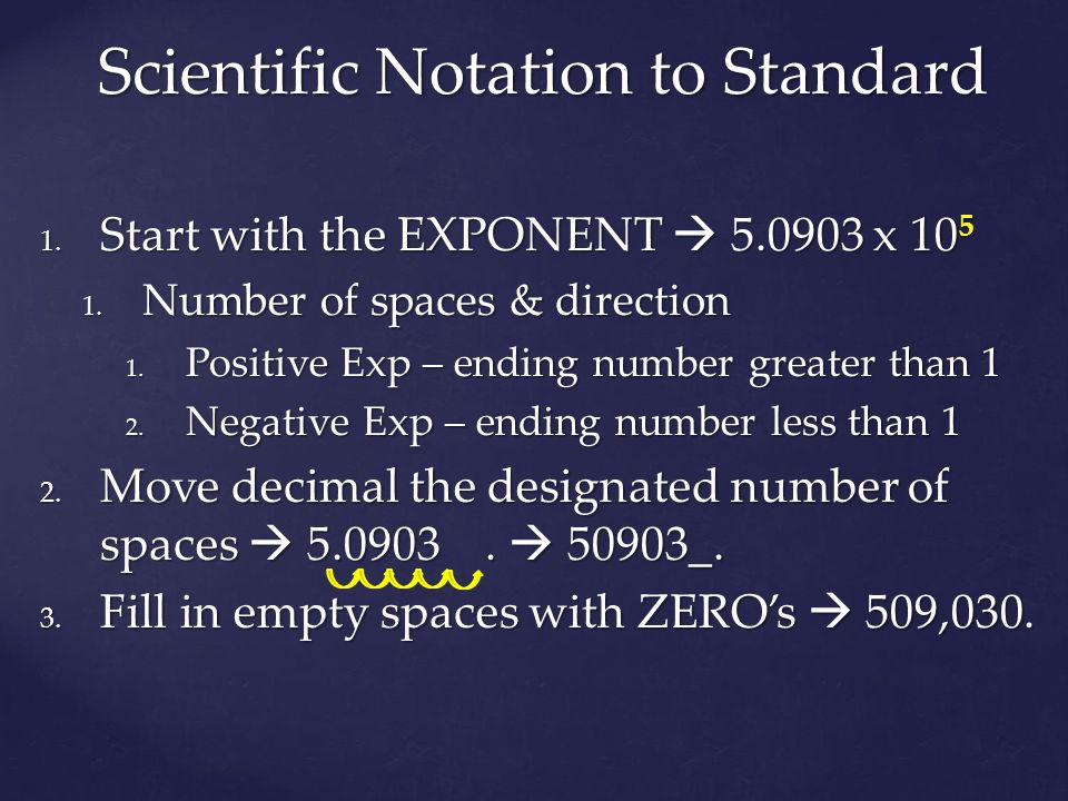Scientific Notation to Standard