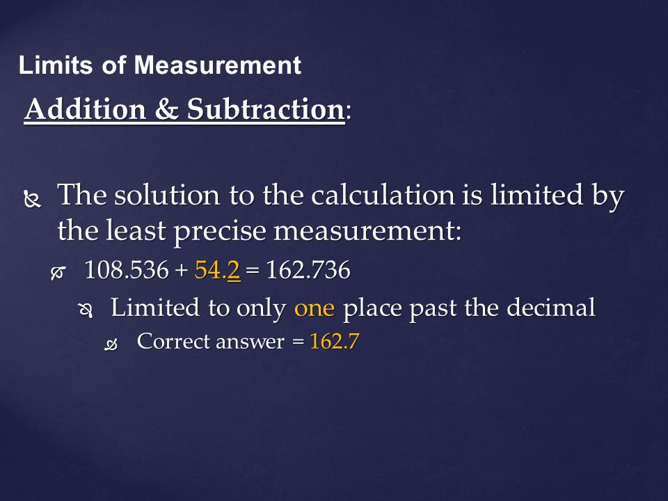 Addition & Subtraction: