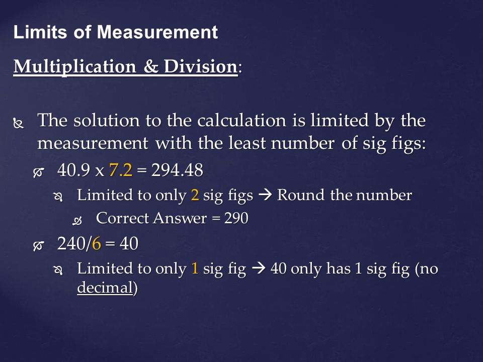 Multiplication & Division:
