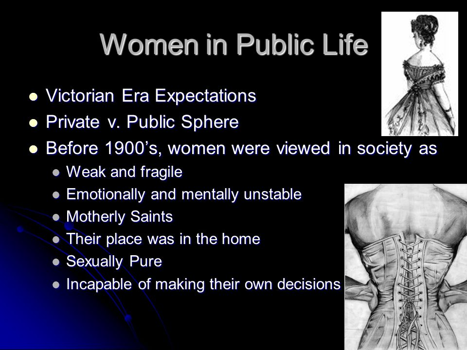 expectations of women in the victorian era