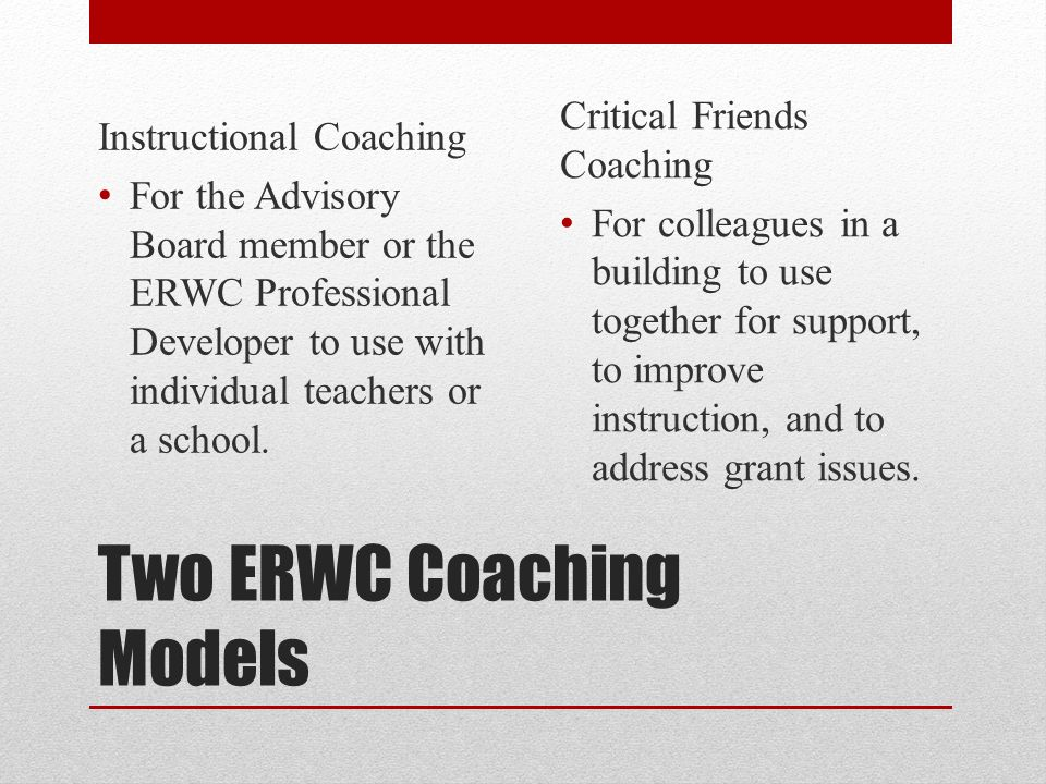 Instructional Coaching For Erwc Fidelity Ppt Video Online Download
