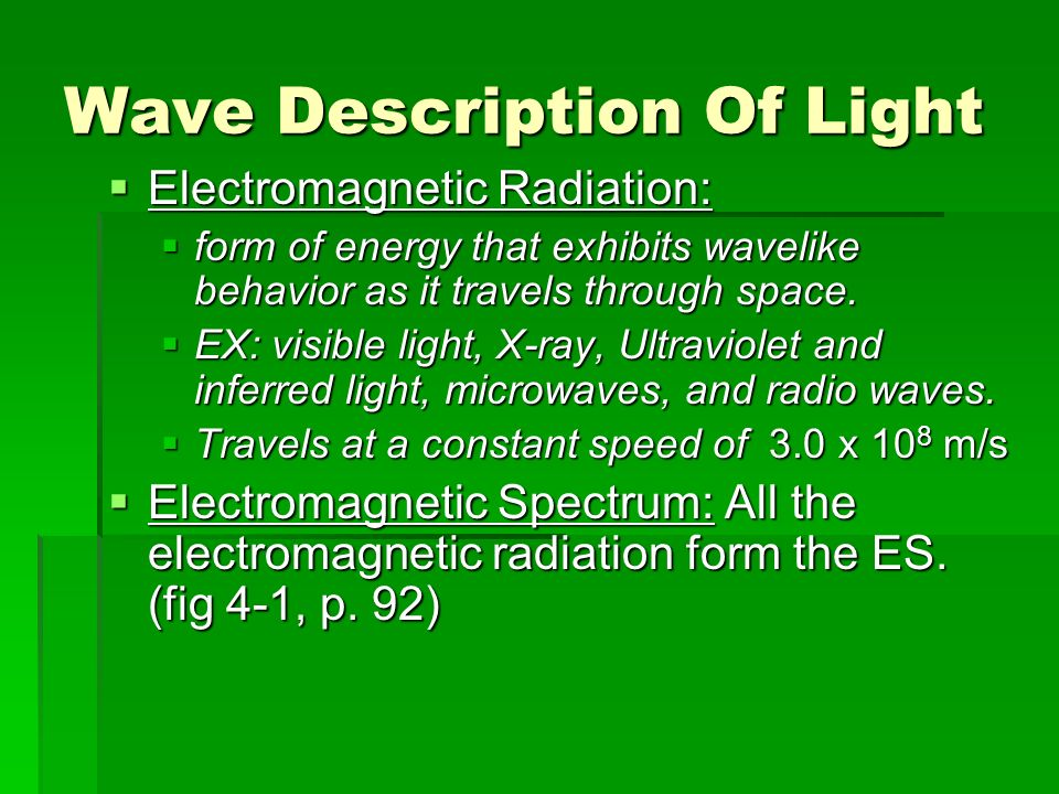 Wave Description Of Light