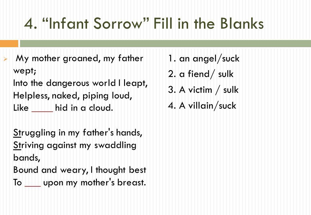 infant sorrow analysis