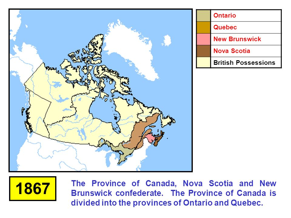 Map Of Canada During Confederation.Confederation Of Canada Ppt Download