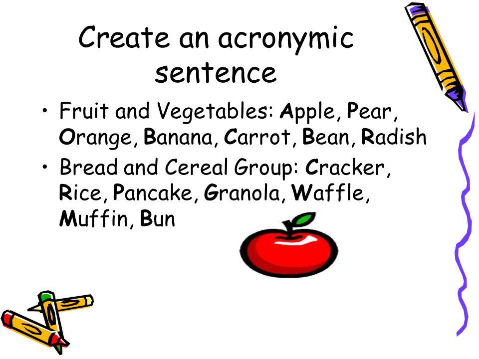 acronymic sentence examples