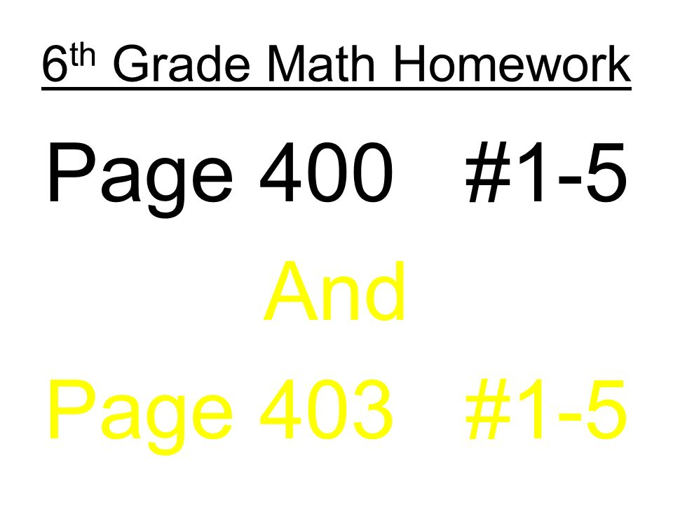 6th Grade Math Homework Page 394 #1-10 Answers. - ppt download