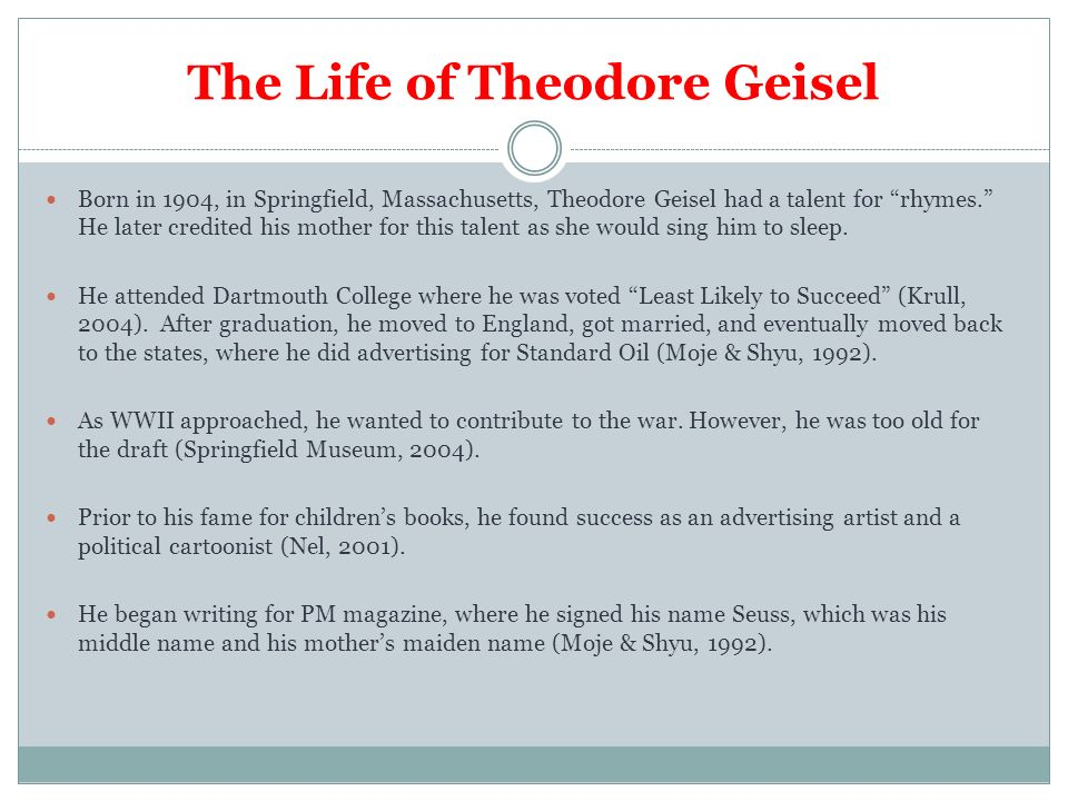 Dr Seuss And His Use Of Symbolism In Childrens Literature Ppt