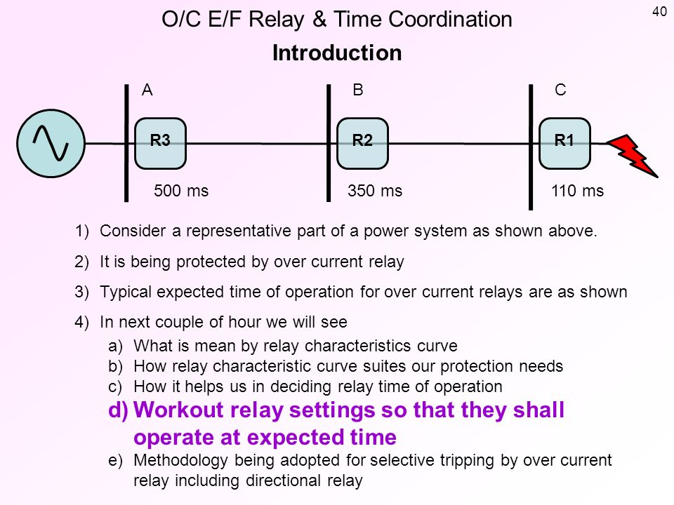 O/C E/F Relay & Time Coordination Basic Information - ppt download