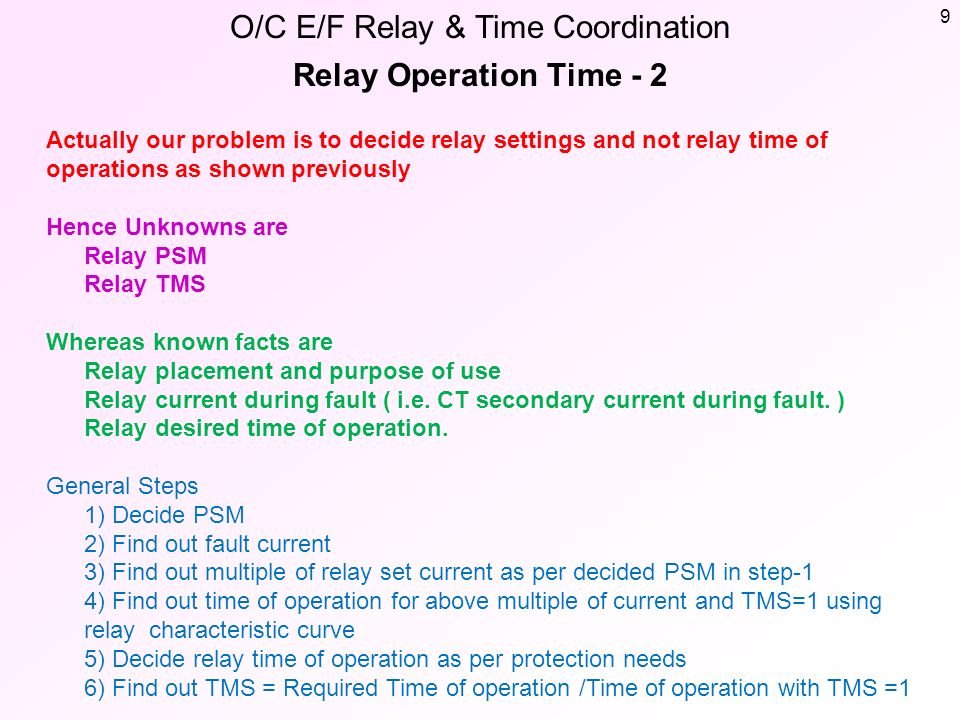 Relay coordination calculation ppt