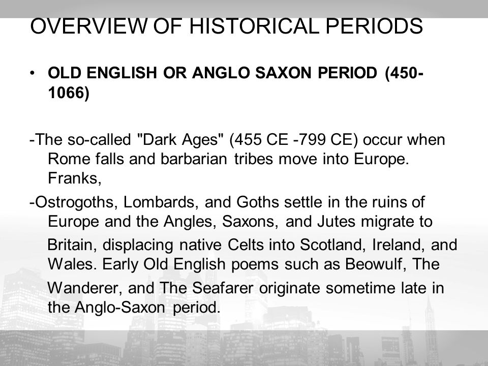periods of english literature an overview