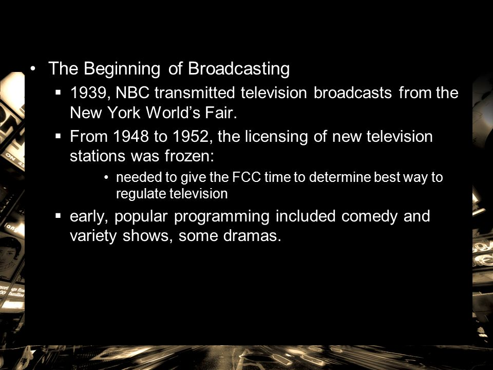 4 The Beginning Of Broadcasting 1939 NBC