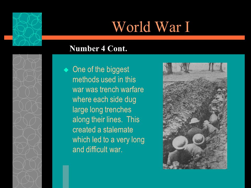 World War I Number 4 Cont.