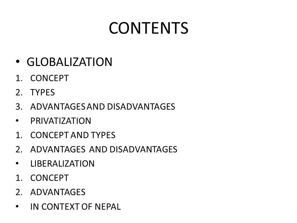 Presentation on the topic globalization privatization.