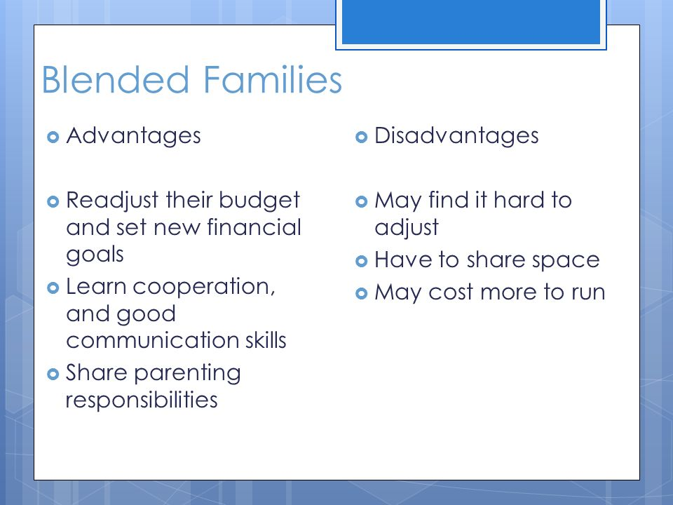 Advantages of a blended family