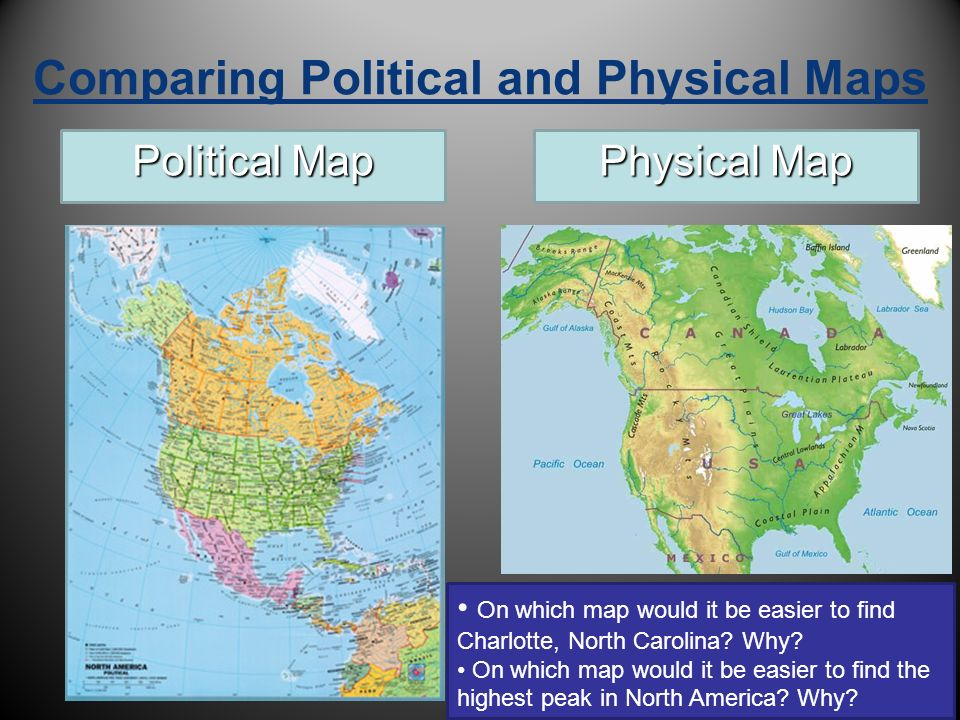 What Is The Difference Between A Physical Map And A Political Map
