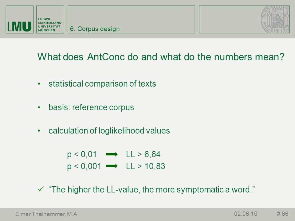What does AntConc do and what do the numbers mean