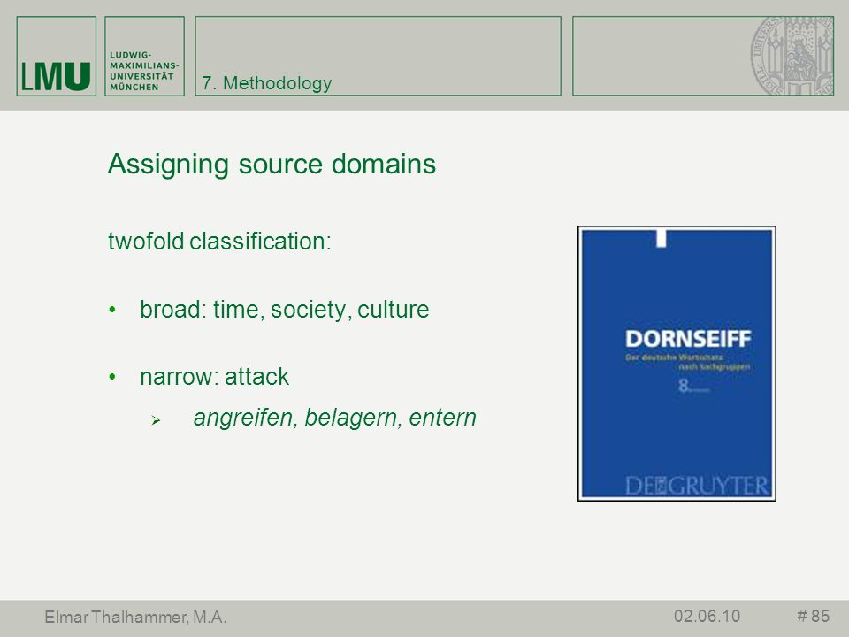 Assigning source domains