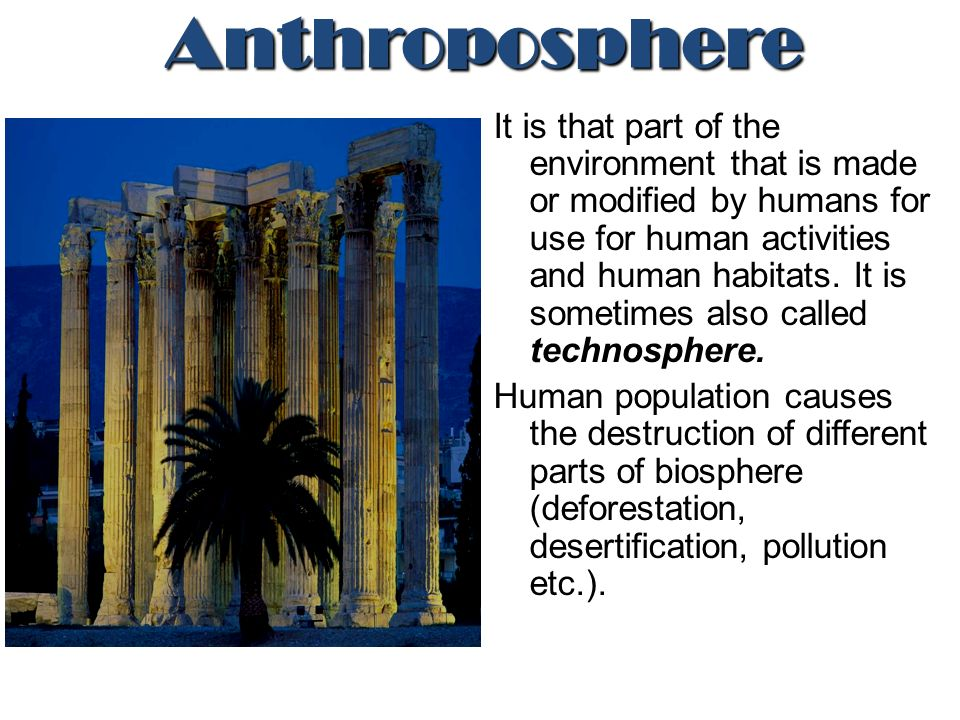 anthroposphere