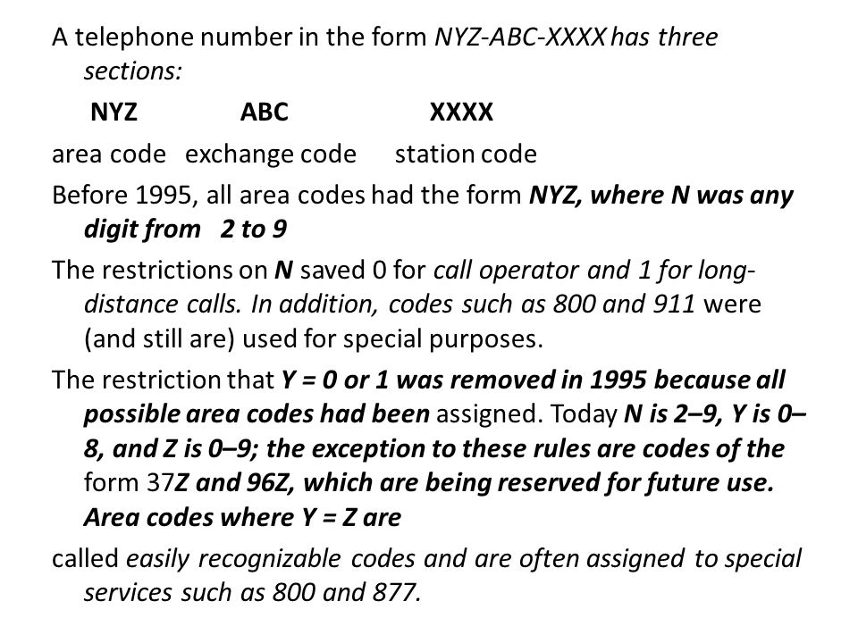 how many area codes are there