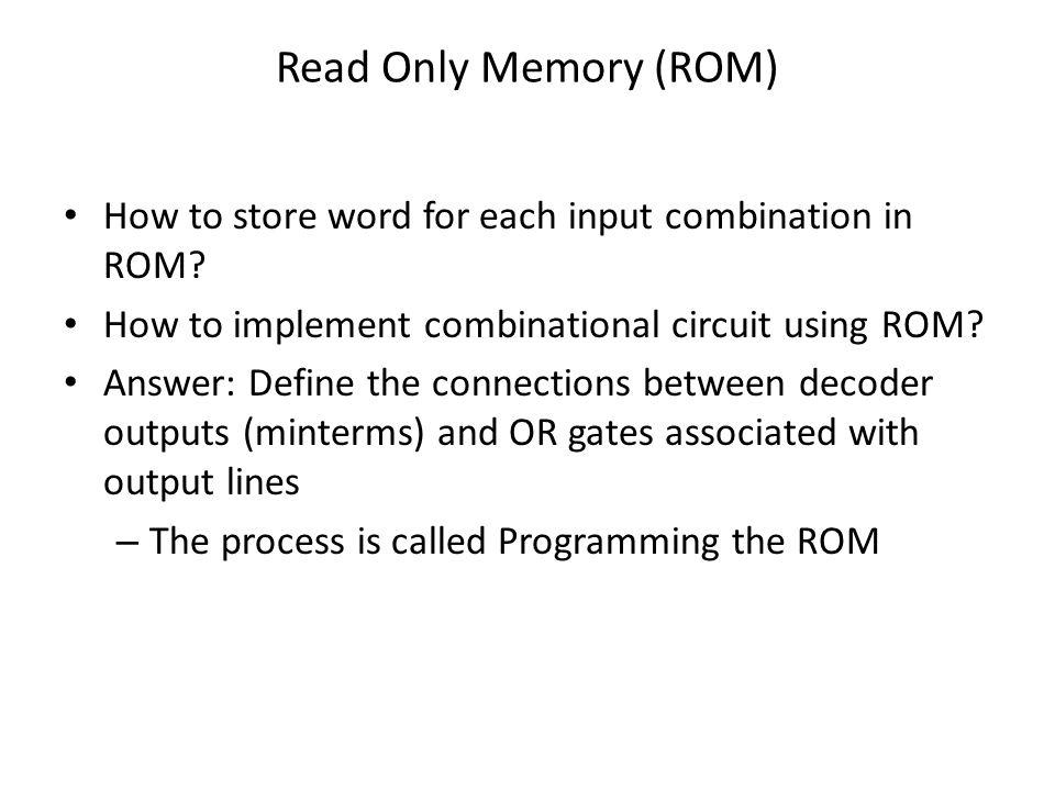 ROM & PLA Digital Logic And Computer Design - ppt download