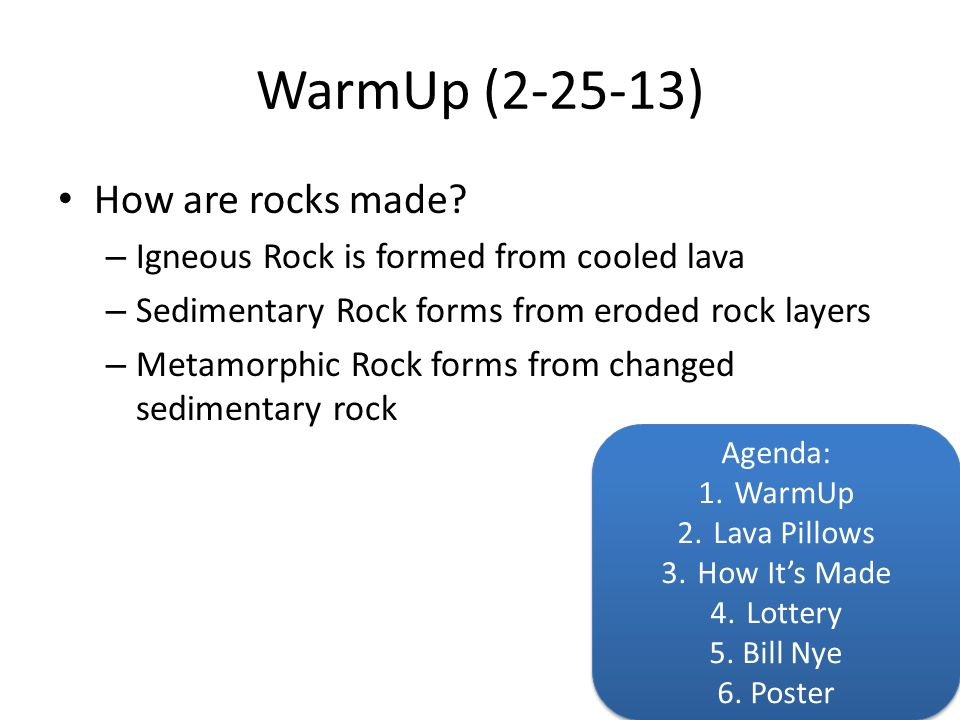 Rock Cycle Unit Ppt Download