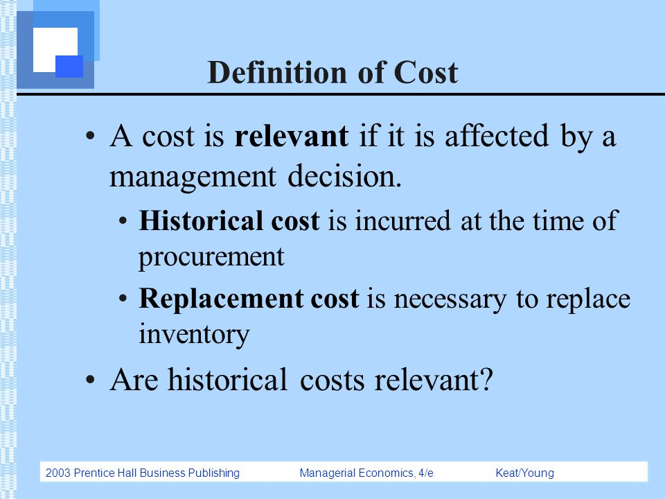 Replacement cost definition in business