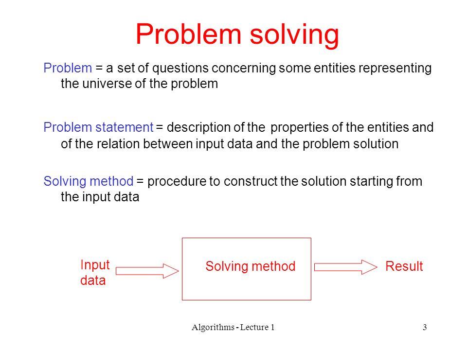 problem solving statement