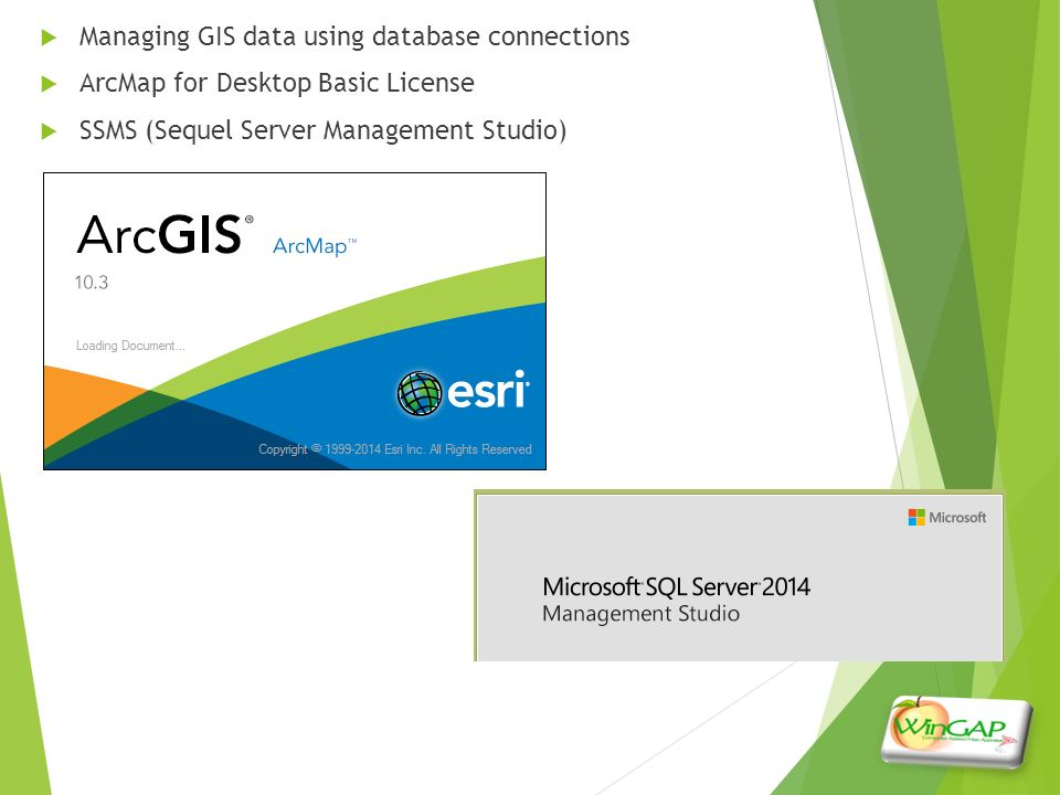 WinGapSQL and GIS Mark Lovett & Rusty Scoven - ppt video
