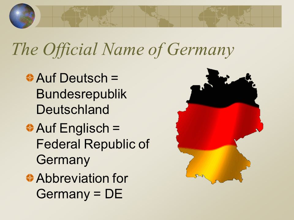 The Official Name of Germany