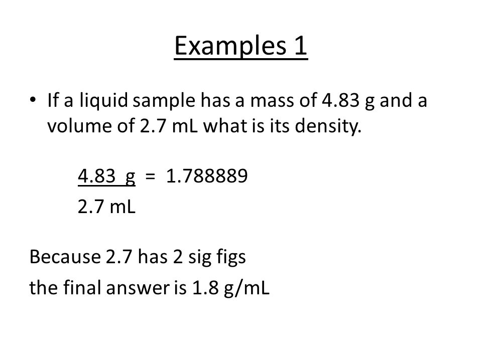 How Do You Calculate The Density Of A Substance Ppt Video Online
