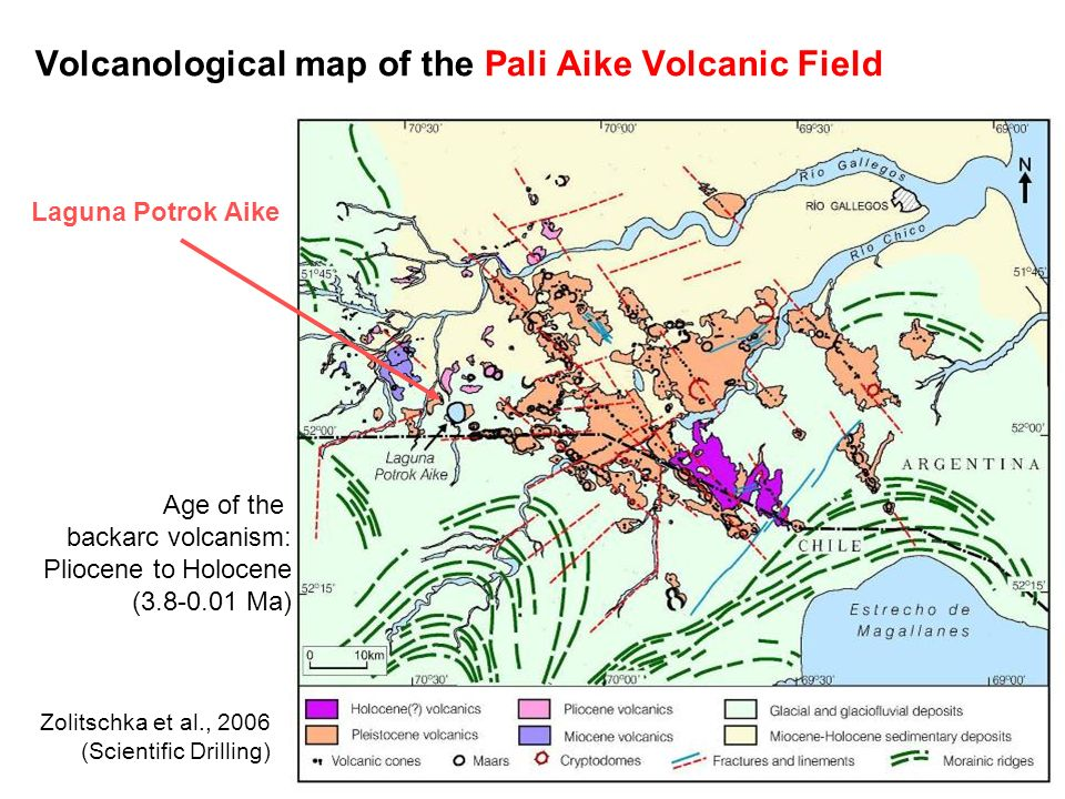 Volcanological map of the Pali Aike Volcanic Field