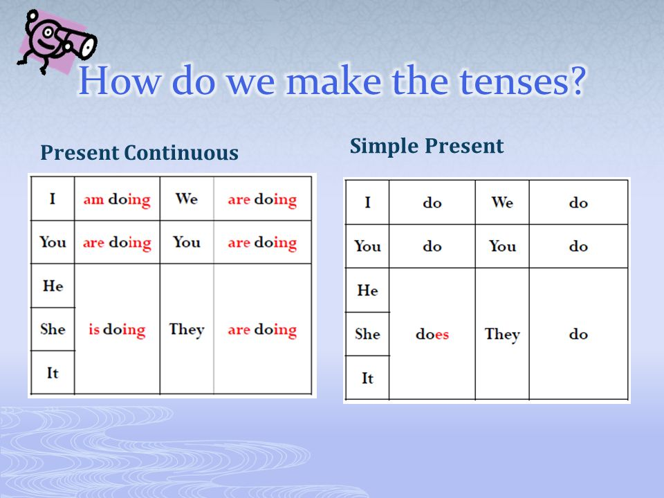 How do we make the tenses